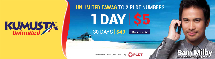 Kumusta 1-Day & 30-Day Unlimited Calling to Philippines